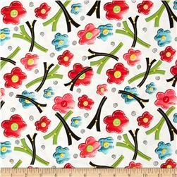 Sew What Flower Pins W/ Zippers Cream