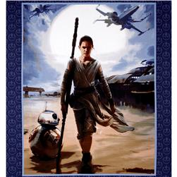 Star Wars The Force Awakens Rey 36 In. Panel Multi