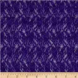 Smocked Pucker Lace Purple