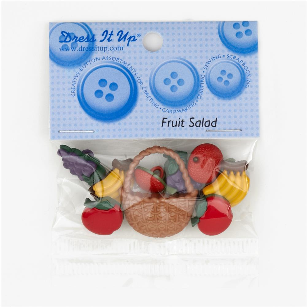 Dress It Up Embellishment Buttons Fruit Salad