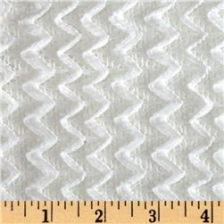 Copacabana Stretch Crochet Chevron Lace White