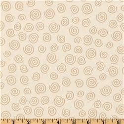 "110"" Wide Quilt Backing Swirl Camel"