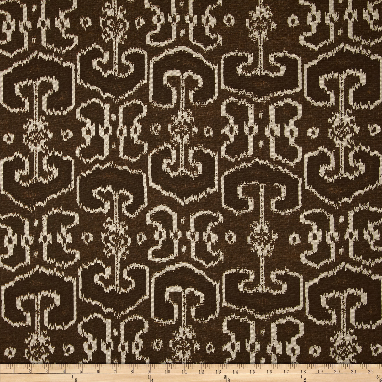 Lacefield Bengali Currant Brown Fabric