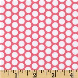 Riley Blake Flannel Honeycomb Dot Hot Pink Fabric