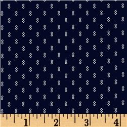 Kaufman Sevenberry Petite Foulard Double Square Navy