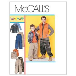 McCall's Children's/Boys' Shirt, Vest and Pull-On Pants Pattern M6222 Size 0Y0