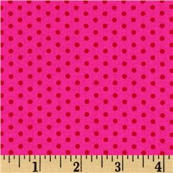 Kaufman Spot On Pindot Pomegranate