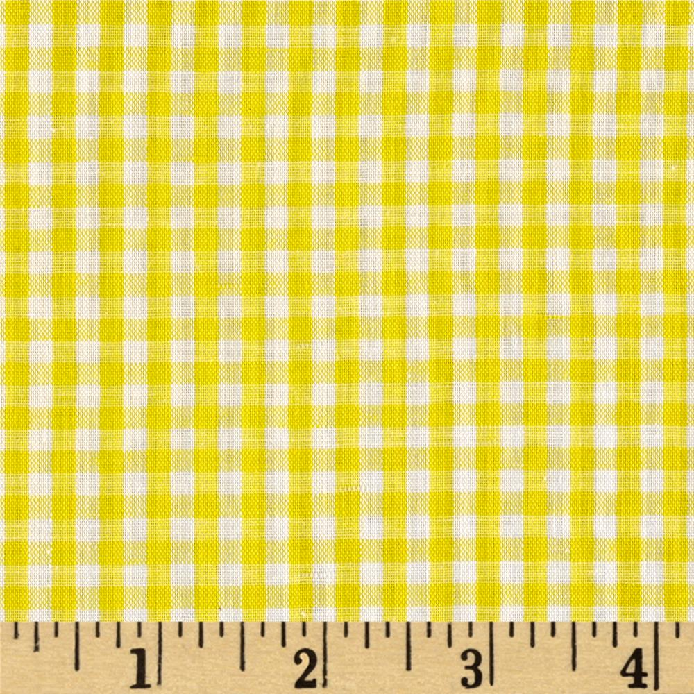 "Richcheck 60"" Gingham Check 1/8"" Yellow"