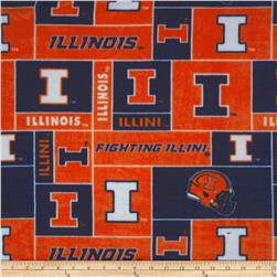Collegiate Fleece University of Illinois Blocks