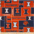 Collegiate Fleece University of Illinois Blocks Blue/Orange
