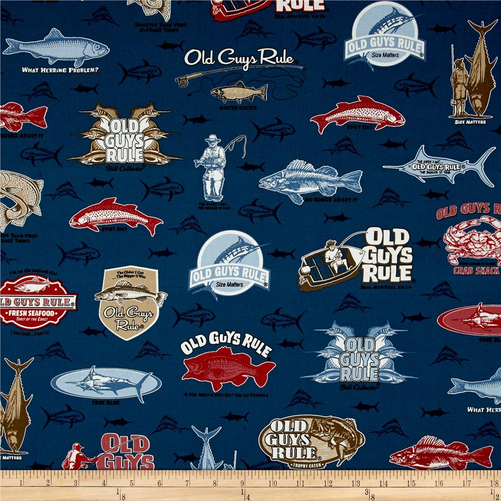 Kaufman Old Guys Rule Collage Navy