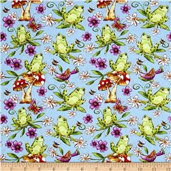 Garden Glory Frogs Light Blue