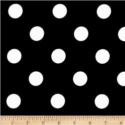 Cotton Blend Broadcloth 1 in. Black Dot On
