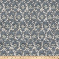 Vern Yip 03374 Jacquard Feathers Blue
