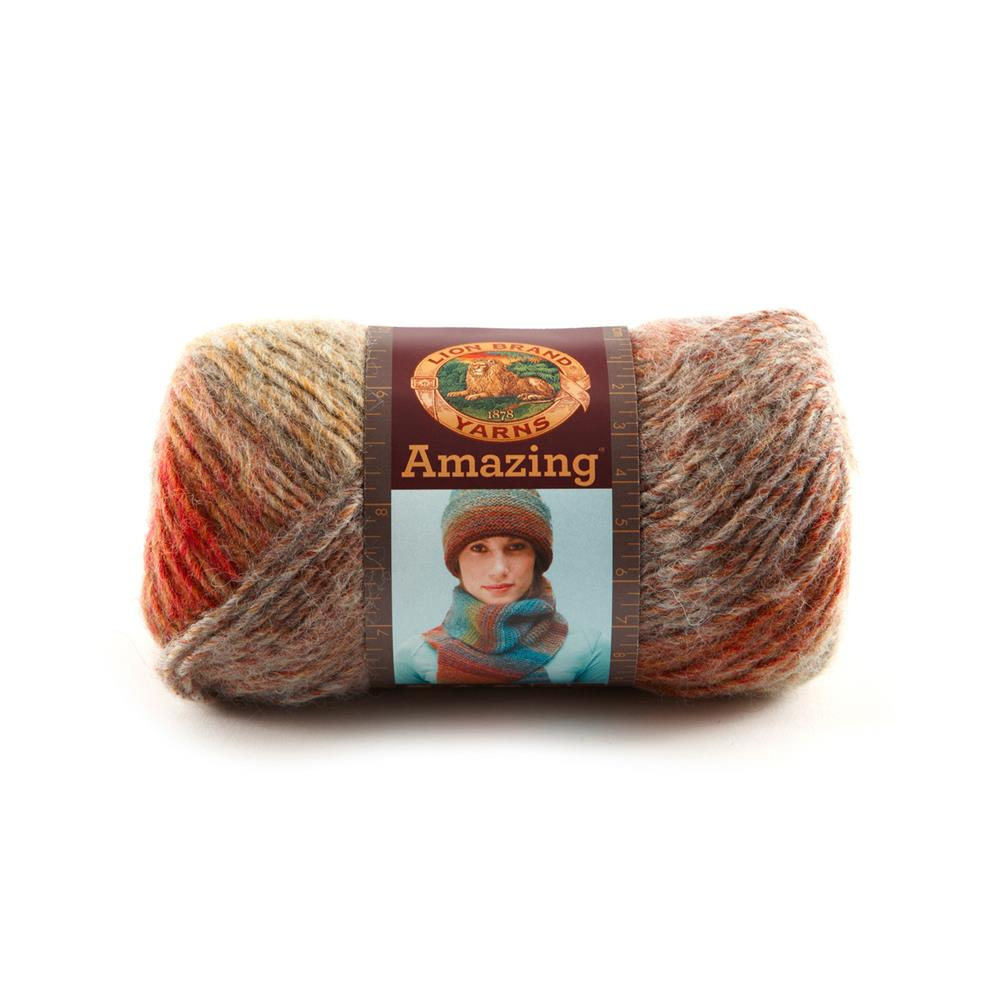 Lion Brand Amazing Yarn (211) Strawberry Fields