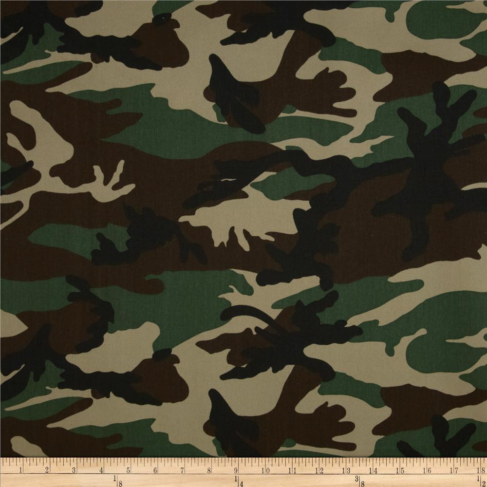 Textile Creations Camouflage Twill Green/Black/Brown
