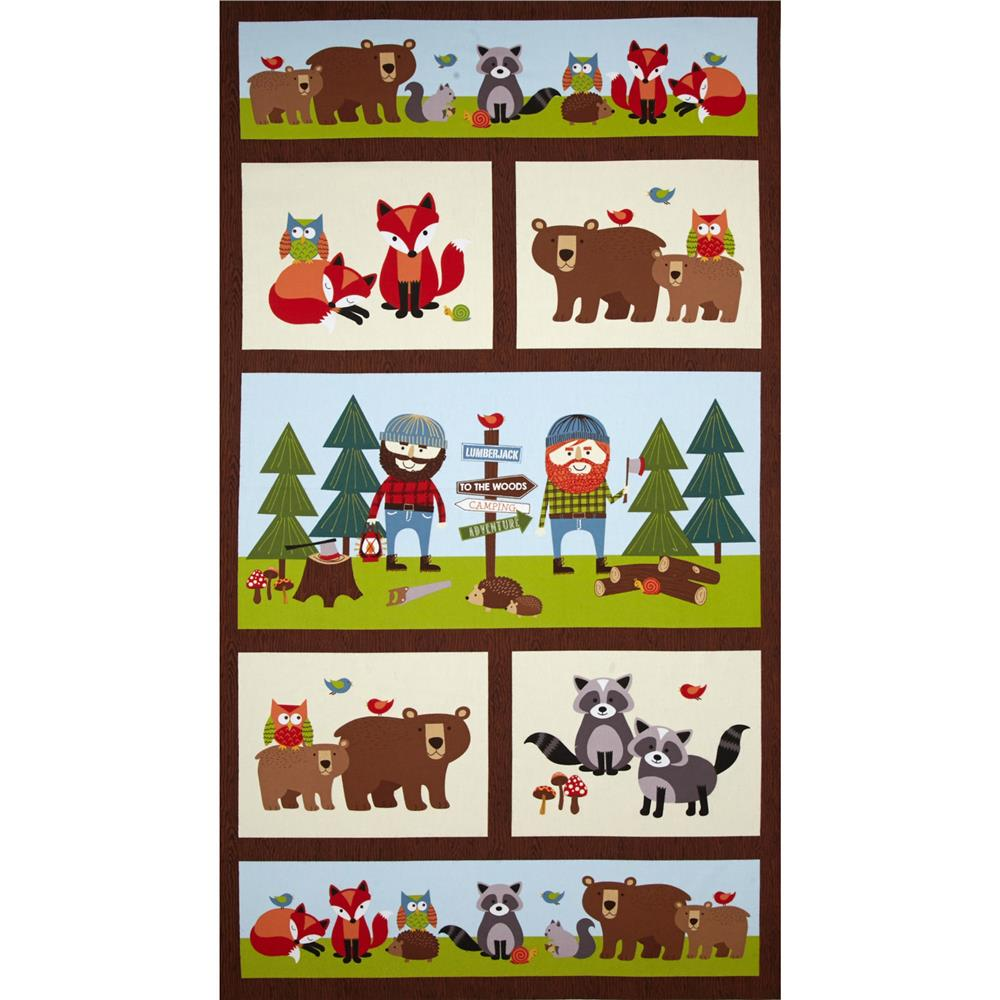 Lumberjack Flannel Camp Panel Multi