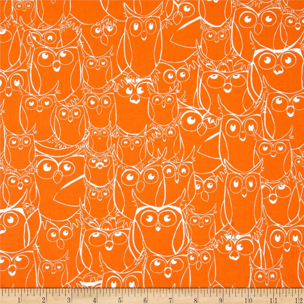 Nite Owls Sketched Owls Orange