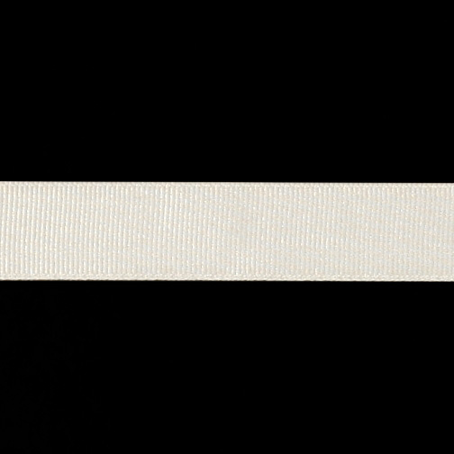 3/4'' Grosgrain Ribbon Ivory Fabric