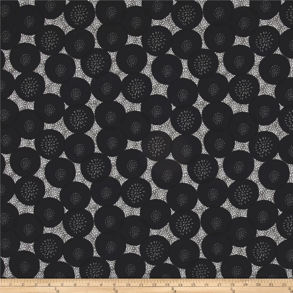 Cherry Pop Floral Polka Dot Dark Gray