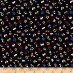 Mary Fons Small Wonders Germany Digital Print Ditsie Print Black