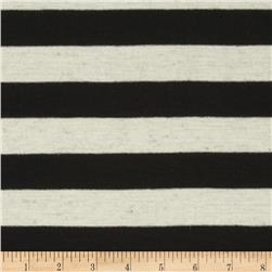 Yarn Dyed Jersey Knit Stripes Black/Oat