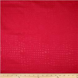 Golding Crocodile Flannel Back Satin Flame Red