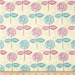 Fabric Freedom Quirky Floral Quirky Singles Pink