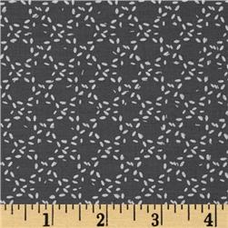 Moda Modern Background Ink Stitched Circles Graphite