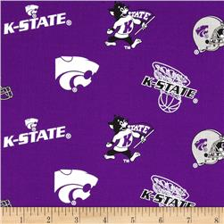Collegiate Cotton Broadcloth Kansas State Purple