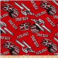 Star Trek Flannel Logo and Ships Red