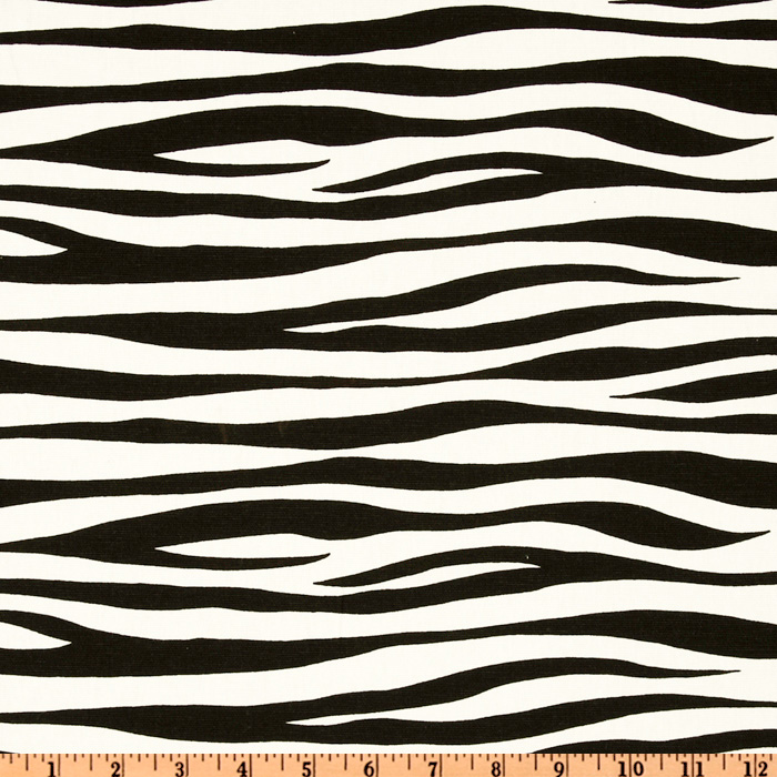 Premier Prints Miami Black/White Fabric
