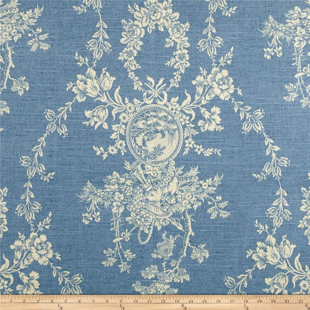 Waverly Country House Toile Chambray Discount Designer