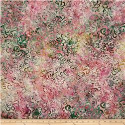 Timeless Treasures Tonga Batik Vineyard Floral Scroll Rose