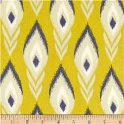 Heather Bailey Momentum Rayon Challis Flight Gold Fabric