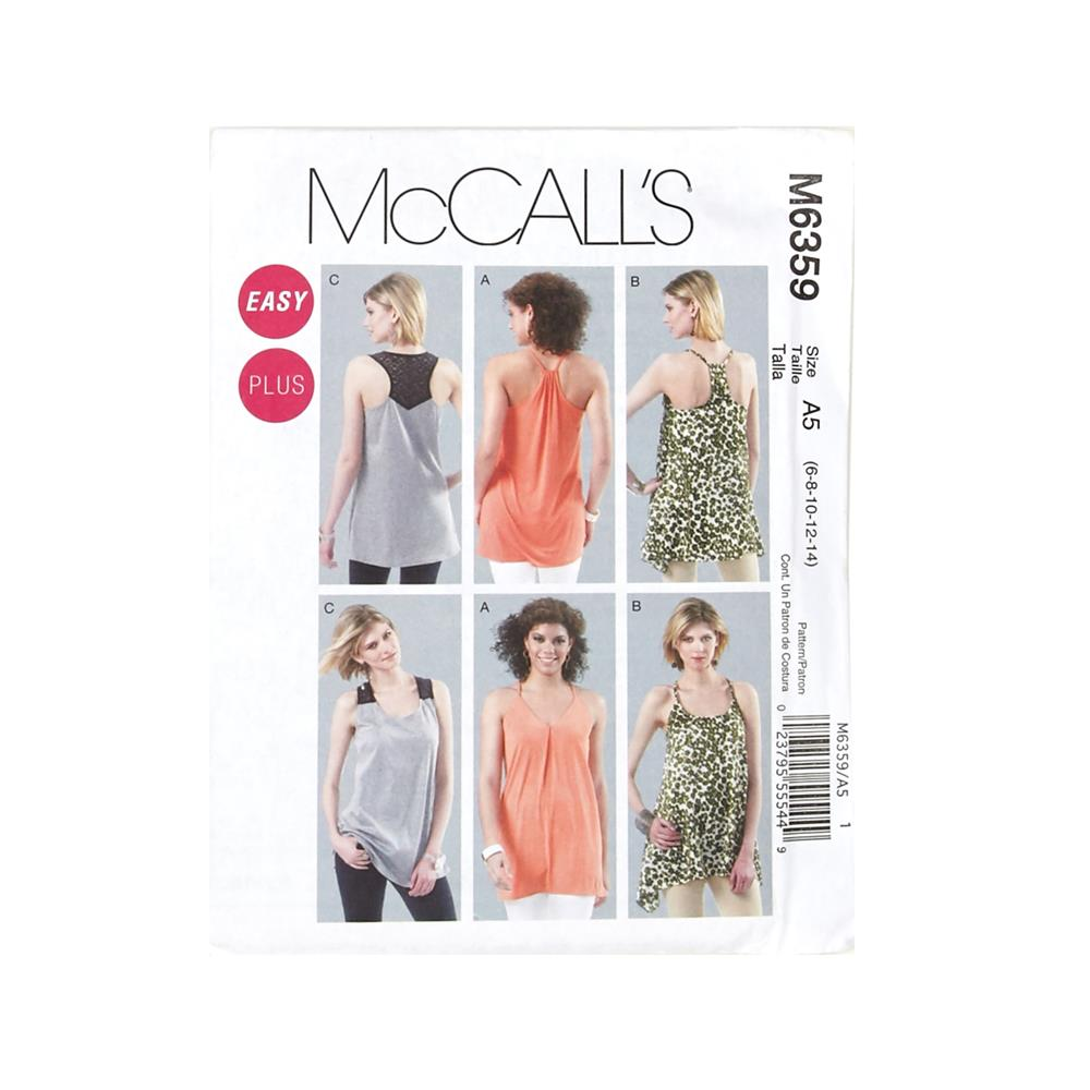 McCall's Misses'/Women's Tunics Pattern M6359 Size A50