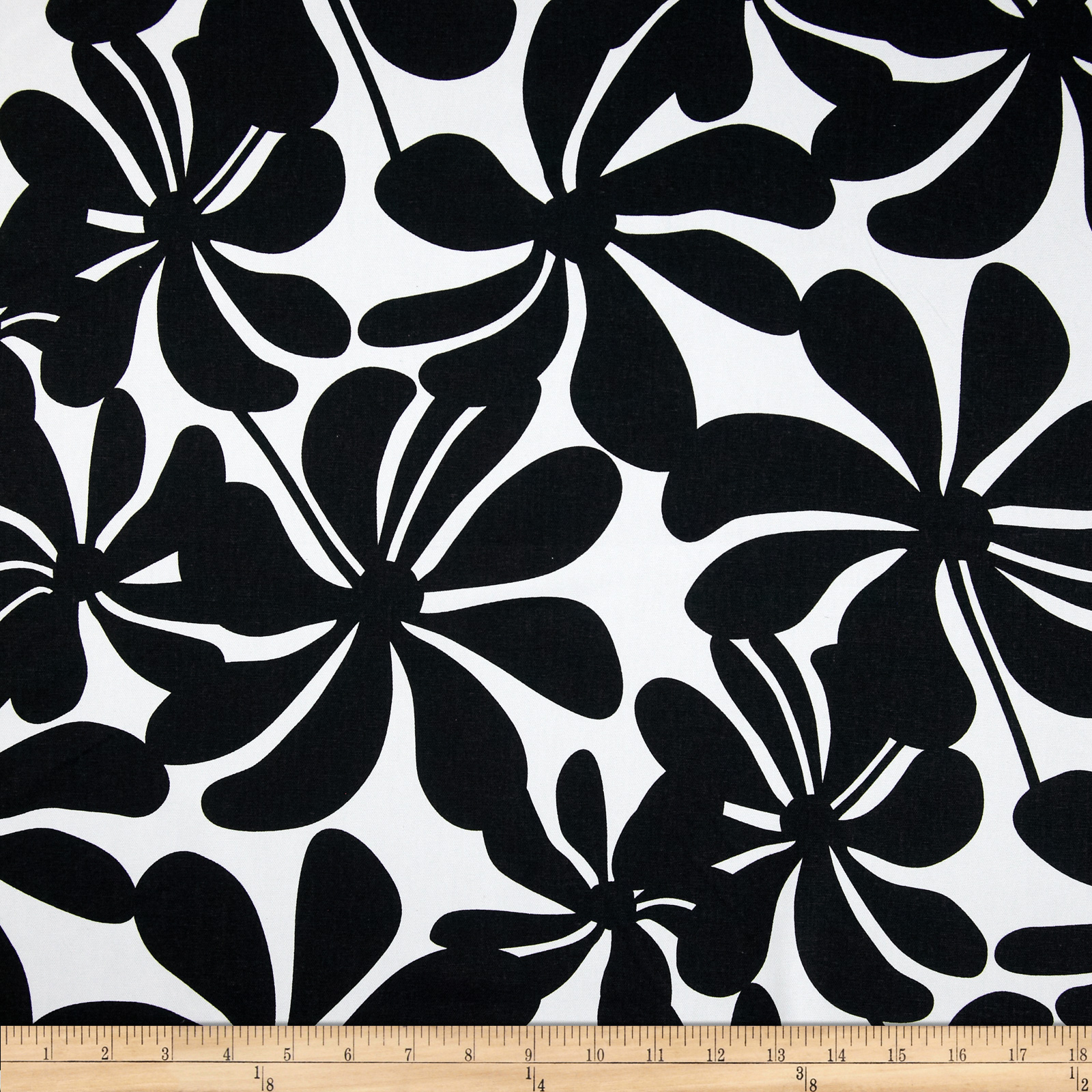 Premier Prints Twirly Black/White Fabric