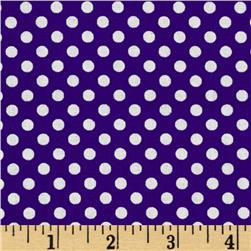 Spot On Mini Dots Purple Fabric