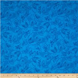 "110"" Wide Quilt Backing Butterfly Blue"