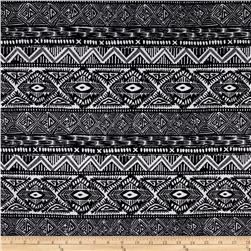 Stretch ITY Knit Black White
