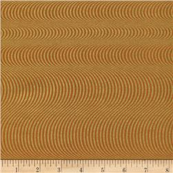 Timeless Treasures Bijoux Wavy Stripe Metallic Spice