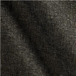 Robert Kaufman Essex Yarn Dyed Linen Blend Metallic Black