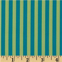 Michael Miller Stripes Clown Stripe Lagoon Green Fabric