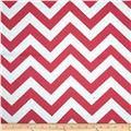 RCA Chevron Blackout Drapery Fabric Hot Pink