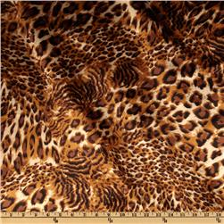 Charmeuse Satin Small Cheetah Tan/Black