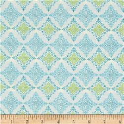 Fabric Freedom Butterfly Meadow Diamond Blue