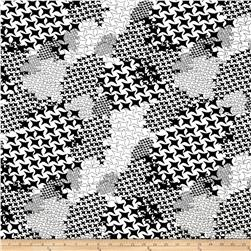 Scuba Reef Knit Abstract Black/Linen White