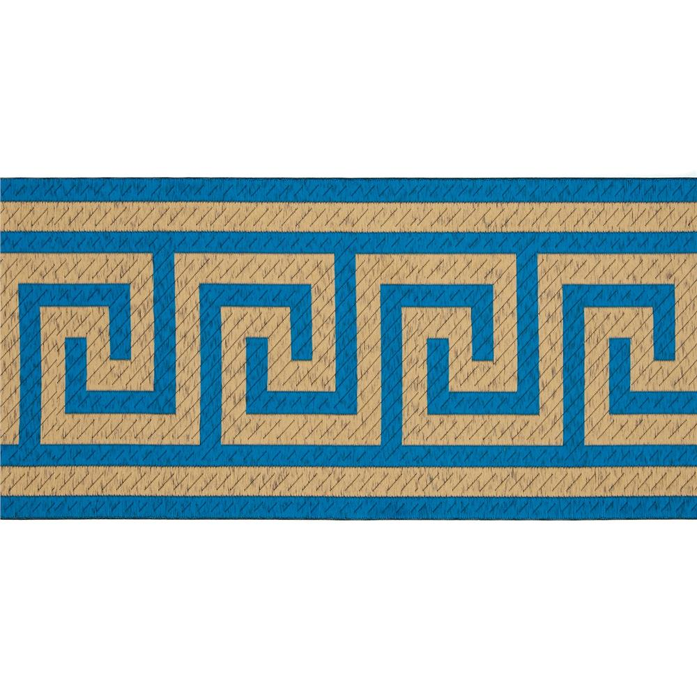 "6"" Woven Home Decor Greek Key Tape Teal"