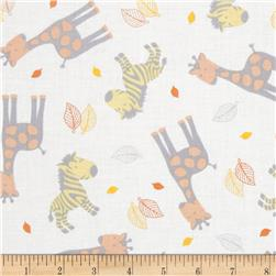 Special Delivery Zebra & Giraffe Toss White/Orange