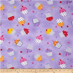 Comfy Flannel Cupcakes Purple